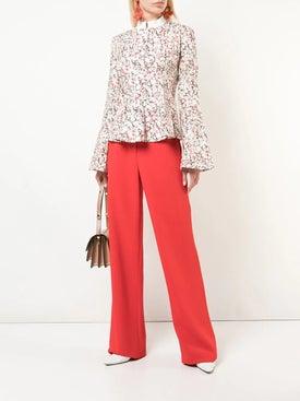 Rosie Assoulin - Printed Peplum Shirt - Women