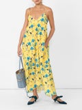 Borgo De Nor - Anais Floral Print Dress Yellow - Women