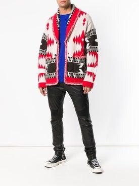 Alanui - Ethnic Pattern Cardigan Red/black - Men