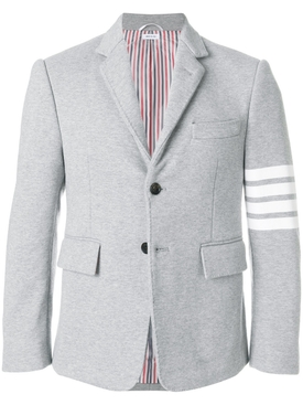 4-bar stripe classic jersey sport jacket LIGHT GREY