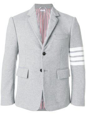 Thom Browne - 4-bar Stripe Classic Jersey Sport Jacket Light Grey - Men