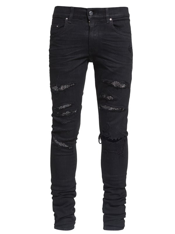 4d5774ed1e4 Amiri - Black Crystal Jeans - Men