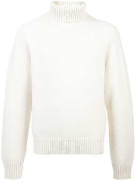 chunky turtle neck jumper WHITE