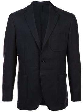 regular fit jacket BLUE