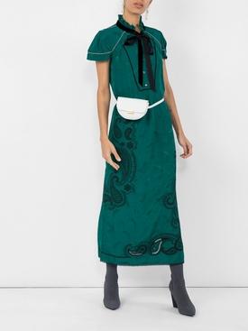 paisley print midi dress