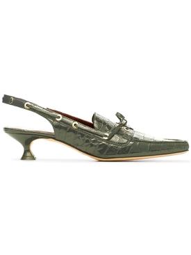 Edie Croc Slingbacks