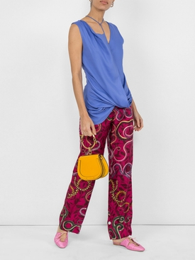 Dhubia draped top PURPLE