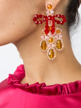 Simone Rocha - Bow Chandelier Earrings - Women