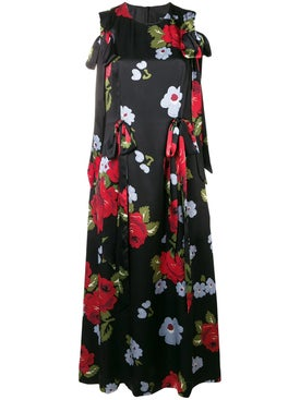 Simone Rocha - Bow Ribbon Floral Dress - Mid-length