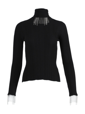 Embellished turtleneck top