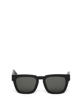 SQUARE SUNGLASSES RAW BLACK AND SOLID GREY