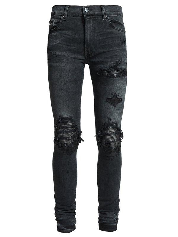 7f3dc715e95 Amiri - Mx1 Leather Patch Jeans Aged Black - Men