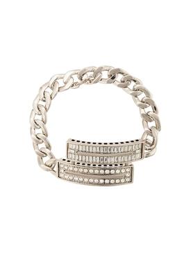 crystal embellished curb chain bracelet