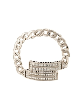 Maison Margiela - Crystal Embellished Curb Chain Bracelet - Men