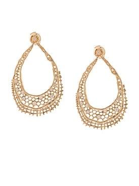 Aurelie Bidermann - 18kt Yellow Gold & Diamond Lace Earrings - Women