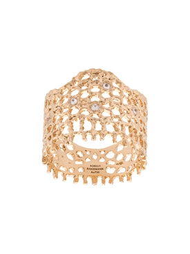 18kt gold and diamond lace ring GOLD