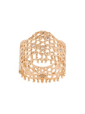 Aurelie Bidermann - 18kt Gold And Diamond Lace Ring - Fine Rings