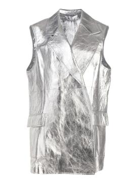 Metallic long vest