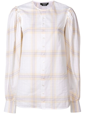 plaid cotton shirt WHITE