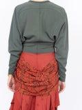 Chloé - Two-tone Ruffle Dress - Long-sleeve