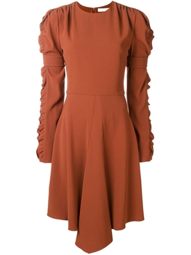 ruffled sleeve dress