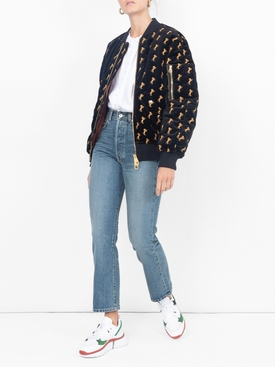 horses embroidered bomber jacket