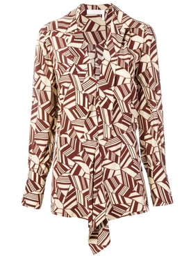 printed blouse BROWN