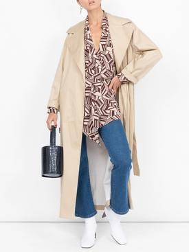 printed blouse BROWN