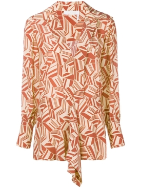 geometric print blouse MULTICOLOR
