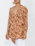 Chloé - Geometric Print Blouse Multicolor - Women