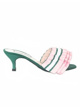 Leandra Medine - The Webster X Leandra Medine Exclusive Ruffle Mule - Women