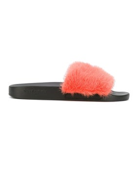 Givenchy - Fur Strap Slides - Women