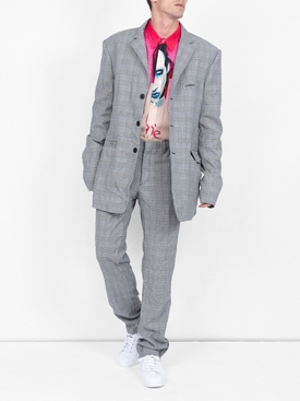 Wrinkled suit trousers GREY