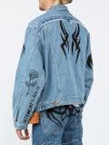 Vetements - Vetements X Levi's Tribal Print Oversized Denim Jacket - Men
