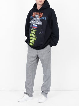 Vetements - Oversized 'russia' Patchwork Hoodie - Men