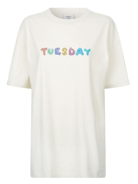 Weekday t-shirt Off White Tuesday