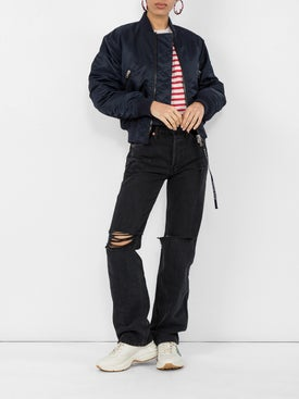 Re/done - Distressed High Rise Loose Jeans - Women