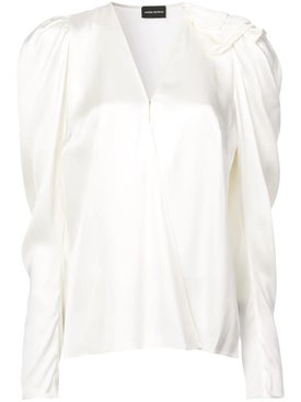 Magda Butrym - V-neck Blouse White - Women