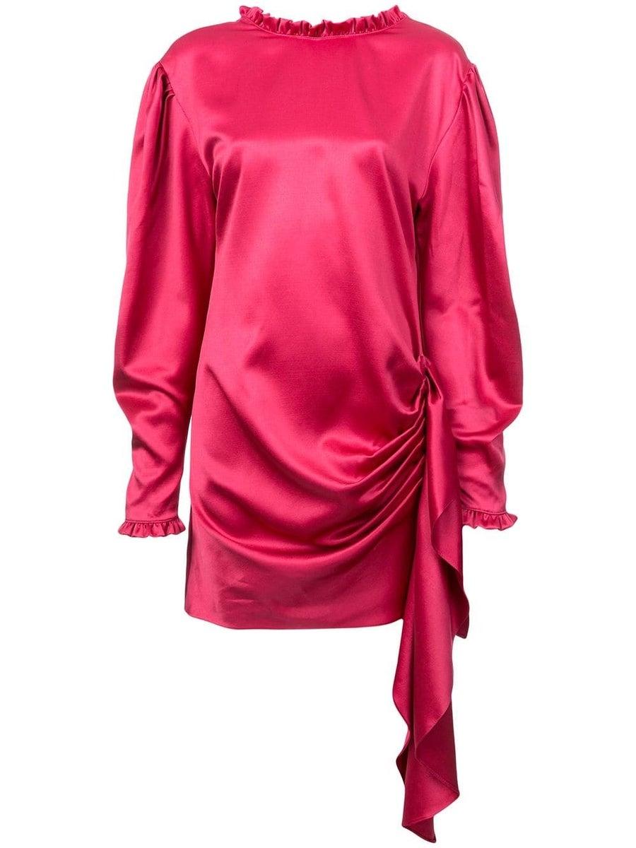 MAGDA BUTRYM DRAPED TIE WAIST DRESS