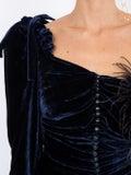 Magda Butrym - Velvet Draped Mini Dress - Women