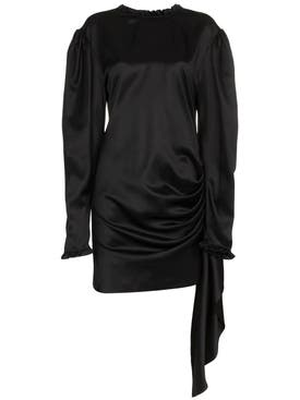 Magda Butrym - Draped Tie Waist Dress - Women