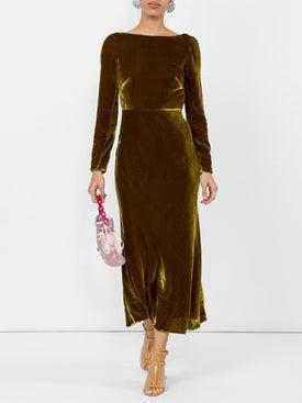Saloni - Low Back Midi Dress - Women