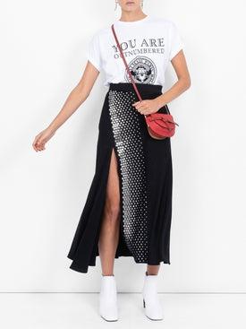 Ellery - Studded Pleated Midi Skirt - Women