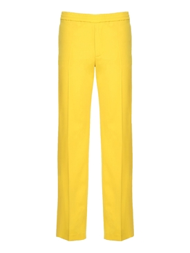 straight leg track pants YELLOW