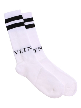 VLTN striped socks WHITE