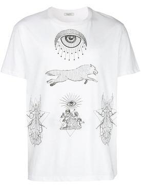 printed T-shirt WHITE