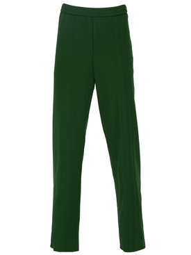 straight leg track pants GREEN