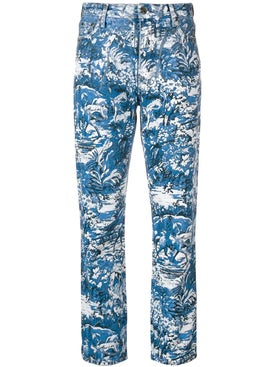 Off-white - Tapestry Cropped Jeans - Women