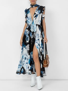 Off-white - Floral Print Maxi Dress - Women