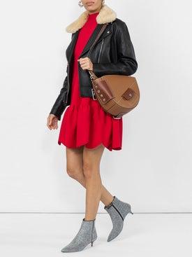 Valentino - Scallop Hem Stretch Jersey Mini Dress - Women
